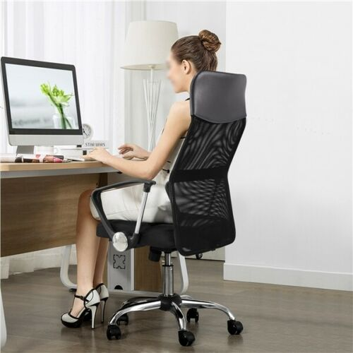 High Back Home Office Desk Chair Ergonomic Swivel Task Chair Gaming Chair Gray