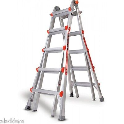 22 1aa Little Giant Ladder Wheels Platform 375lb Rated Super Duty 10403 New