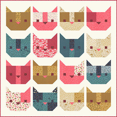Quilt Pattern HERE KITTY KITTY Moda STACY HSU Woof Woof Meow Meow CATS