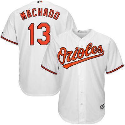 Baltimore Orioles Machado  13 Mens White Big   Tall 2Xl 6Xl Team Jersey Mlb