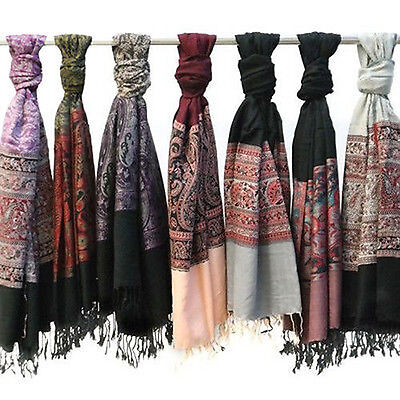 Pack of 2: Amtal Women's Pashmina Fashion Paisley Scarves - Colors Assorted