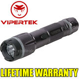VIPERTEK VTS-T03 Metal Police 230MV Stun Gun Rechargeable LED Flashlight - Gray