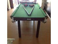 Debut pool snooker table