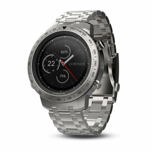 Garmin fnix Chronos Smartwatch 49mm Stainless Steel with Stainless Steel Band 010-01957-02