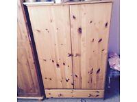 Pine 3/4 height children's wardrobe