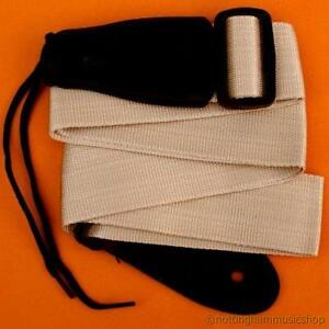 STRAP-FOR-ELECTRIC-OR-ACOUSTIC-GUITAR-PLAIN-LIGHT-FAWN-COLOUR-NEW-JANIKA-102C