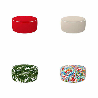 Edie Home Outdoor Inflatable Ottoman Round Patio Round Footstool Indoor Patio -