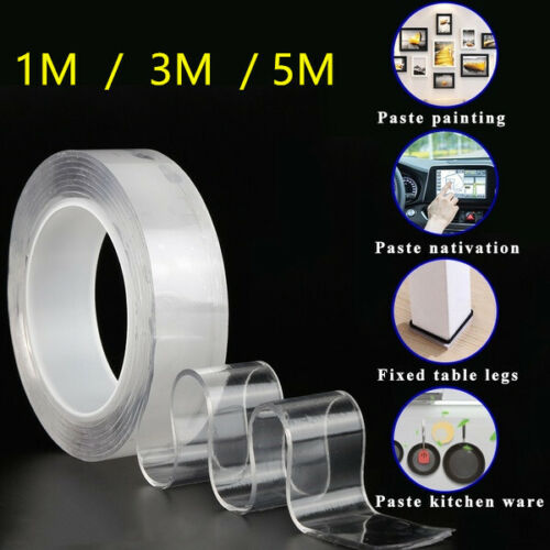 Reusable Double-Sided Adhesive Nano Traceless Tape Washable Adhesive Loop Disk Adhesives & Tape