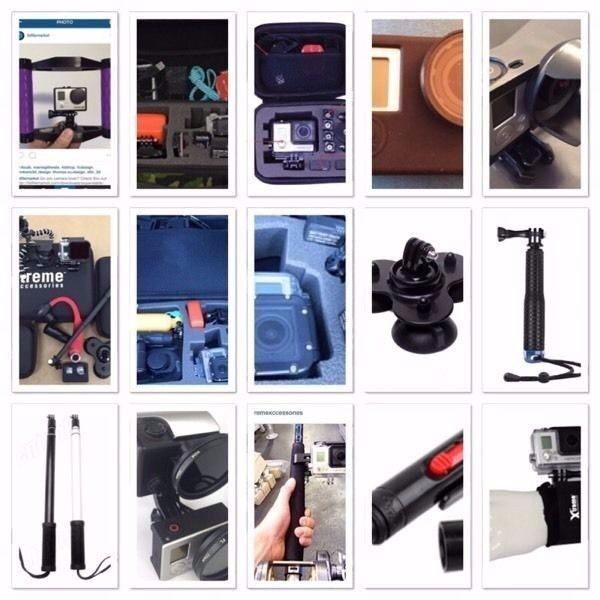 Various mounts cases and accessories for GoPro