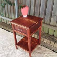 Distressed Teak Side Table Upcycled Furniture Coogee Eastern Suburbs Preview