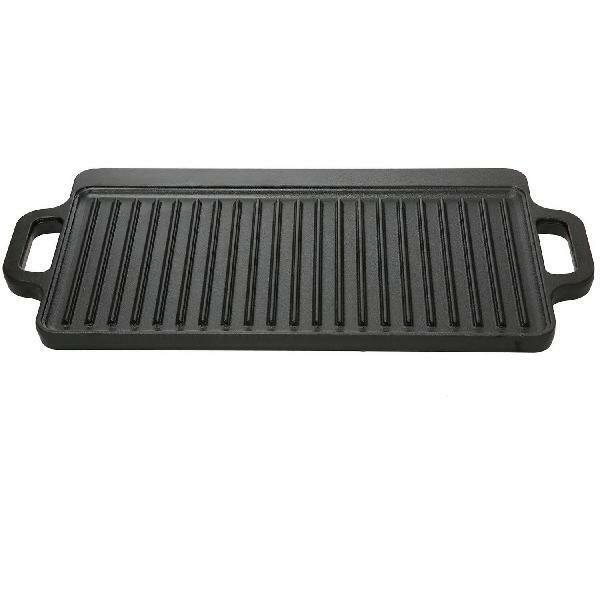 Small Cast Iron Griddle Reversible Ozark Trail Non Stick Black Outdoor Grill