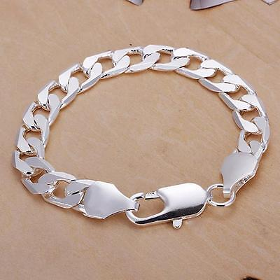 925 solid noble best silver Fashion cute nice men solid chain Bracelet