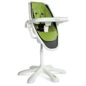 Chaise Haute-High Chair Mamas and Papa LOOP verte-moderne