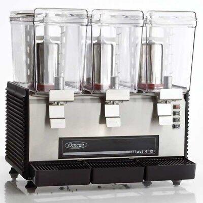 Omega Osd30 Commercial Triple 3 Gallon Bowl Drink Dispenser