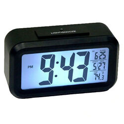 Auto Sensor Large Display Alarm Clock- Low Vision, Night, Light, Bright, Date