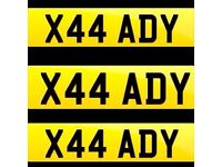 Private registration X44ADY