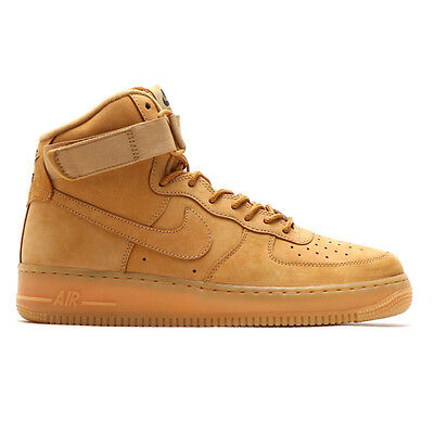 NIKE AIR FORCE 1 HIGH '07 LV8 WB SZ 12 FLAX WHEAT 882096-200