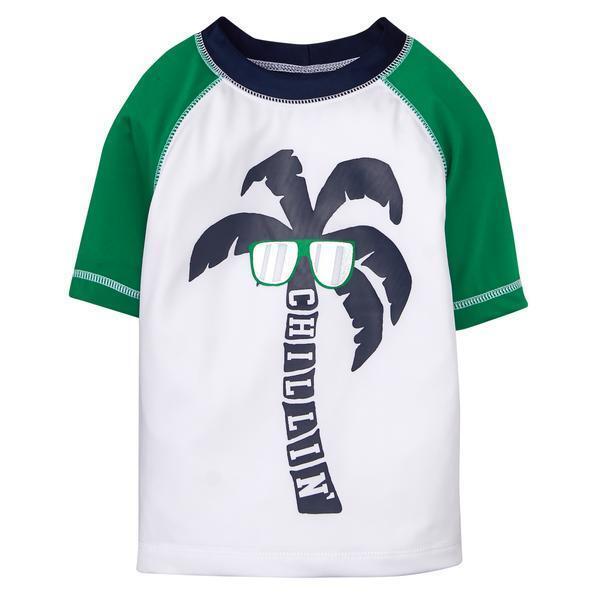 iXtreme Boys Baby Palm Tree Infant Rash Guard
