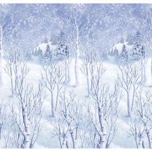 40ft Giant Winter Wonderland Christmas Scene Setter Party Prop Wall Decoration
