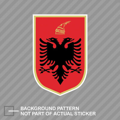 Albanian Coat of Arms Sticker Decal Vinyl Albania flag ALB AL