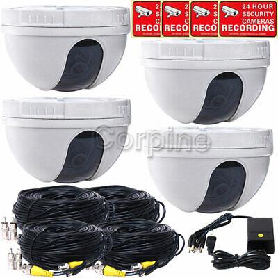 4 x Security Cameras Indoor Color CCD Wide Angle Lens CCTV Home Surveillance mi4