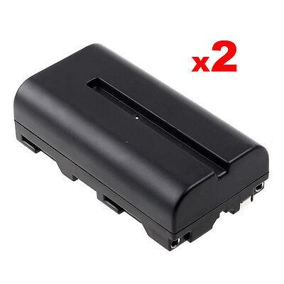 [Lot de 2]Batterie Lithium NP-F550 2400mAh pour Caméra Sony éclairage Yongnuo