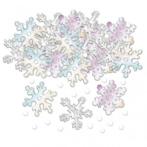 IRIDESCENT SNOWFLAKE CHRISTMAS TABLE CONFETTI - CHRISTMAS PARTY DECORATION
