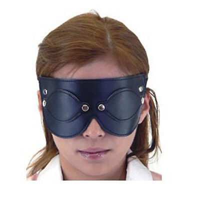 PU Leather Noblewoman Eyes Patch Pad Mask Party Club Travelling Blindfold