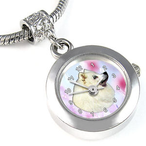 Samoyed-Dog-European-Bead-Watch-For-Bracelet-EBA052