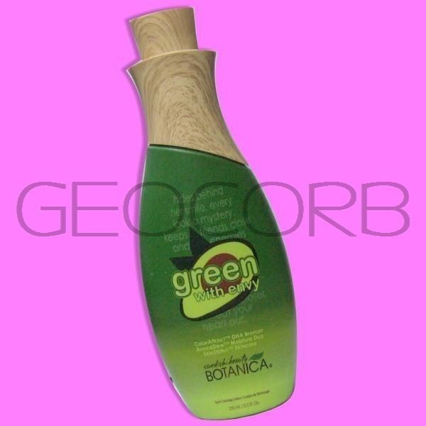 Swedish Beauty DHA Bronzer Tanning Lotion, Green with Envy,