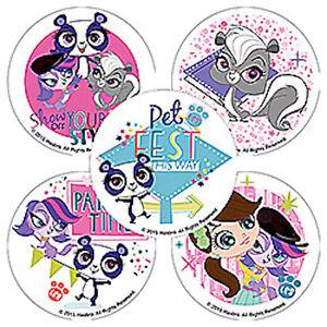 25 Littlest Pet Shop Party Time LPS Stickers Party Favors Teacher Supply Animals