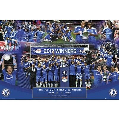 Chelsea FC FA Cup Winners poster English Premier League new EPL Blues Soccer