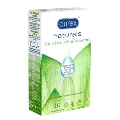 Frei Haus: Durex Naturals 10 silikonfreie Kondome mit Gleitgel auf Wasserbasis