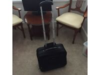 Wheelie hang luggage suitcase/laptop bag