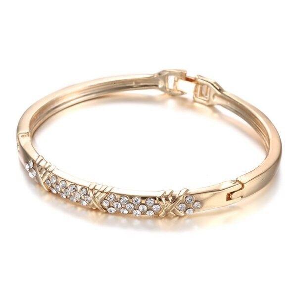 Stylish Embossed Rhinestone Bracelet For Women