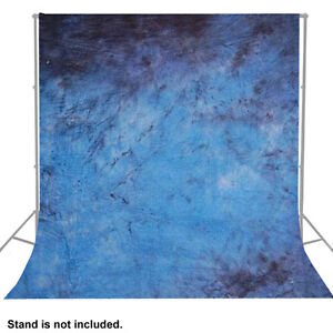 Hand Painted Tie Dyed Muslin Blue Background  Photo Backdrop  Photography