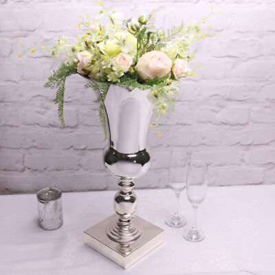 Stunning Large Silver Plated Luxury Urn Vase Display Wedding