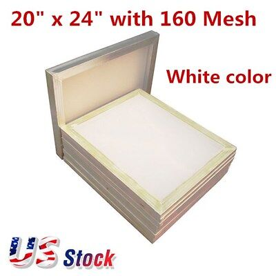 6pcs 20 X 24 Aluminum Silk Screen Printing Frame With 160 Mesh White - Us