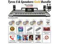 Preowned Tyros 5 (76 Note) Keyboard Inc MS05 Speakers - BRONZE/ SILVER/GOLD BUNDLE OPTIONS AVALIABLE