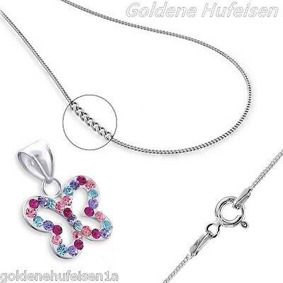 Kristall Schmetterling KETTE mit ANHÄNGER 925 Echt Silber Geschenkidee z-198