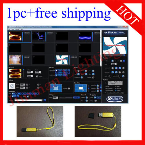 ArKaos MediaMaster Pro 5 Dongle Key License Video Wall Screen Display Console