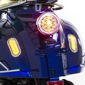 Led rear light for retro scooter