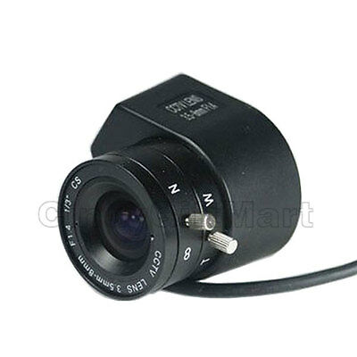 DC Auto Iris 3.5–8mm Varifocal Zoom CS Mount Lens for CCTV Security Camera 1BG