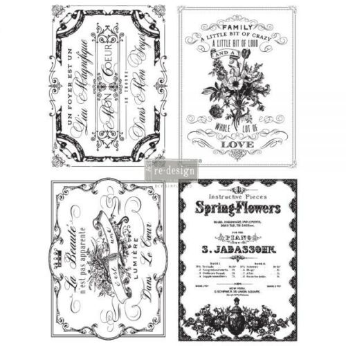 Re-Design with Prima SPRING FLOWERS Transfer Home Decor - NEW