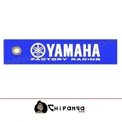 Llavero de tela Yamaha Factory Racing moto no araña R1 R6 TMAX XMAX no pegatina