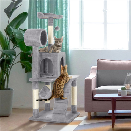 """51"""" Cat Tree Bed Furniture Scratching Tower Post Condo Kitte"""