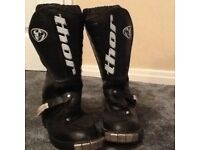 Motor cross boots child's size 13