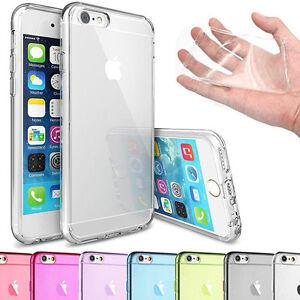 para-Apple-iPhone-Funda-Transparente-transparente-Gel-TPU-Tapa-Blanda-Funda-Gel