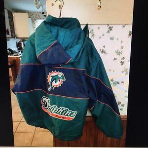 Brand New XL Miami Dolphins Coat/Good Quality/Warm