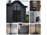 Thin stone cladding tiles